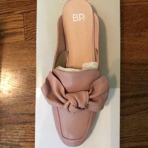 BP Blush Leather Slides